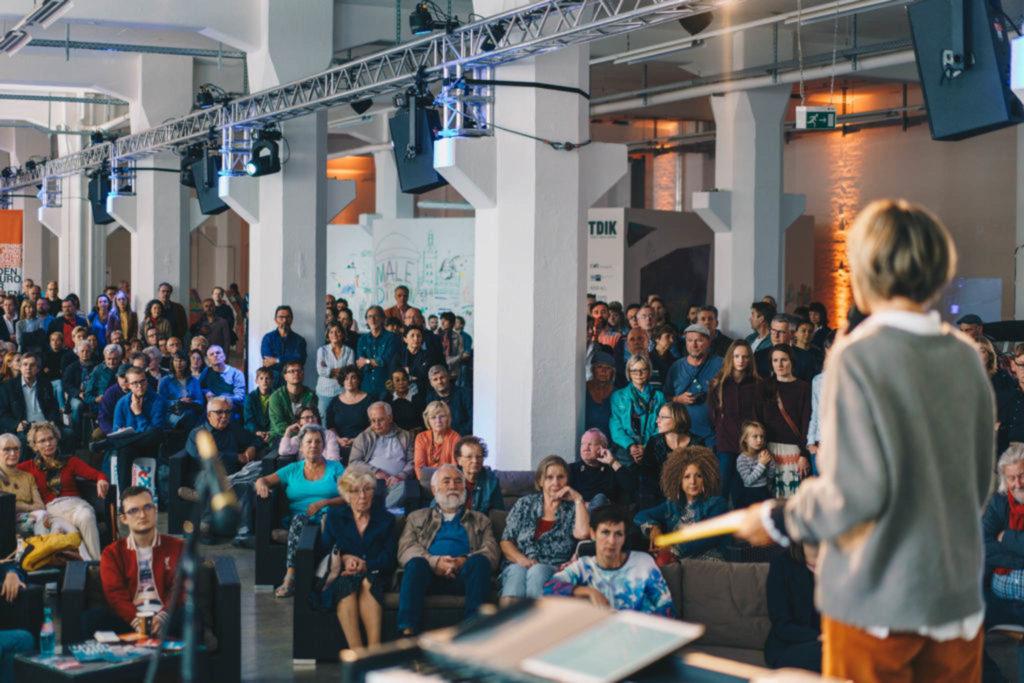 Präsentation des BidBook Kulturhauptstadt beim RAW-Festival im Wirkbau Chemnitz. Foto: Ernesto Uhlmann